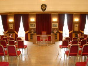View of inside Beaconsfield Town Council Chamber